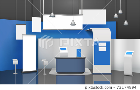 Exposition Stand Mockup Composition 72174994