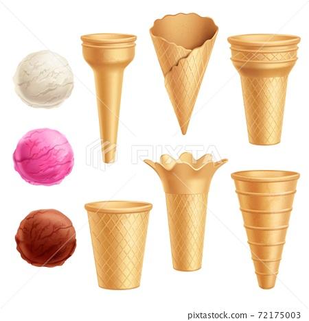 Ice Cream Icon Set 72175003