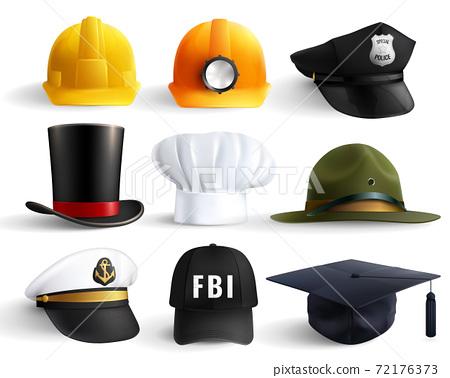 Different Professions Hats Set 72176373