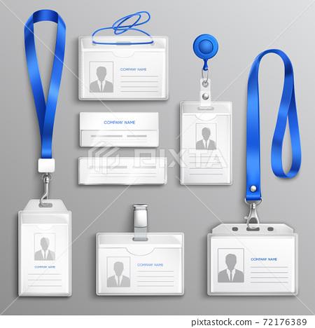 ID Card Holders Realistic Set 72176389