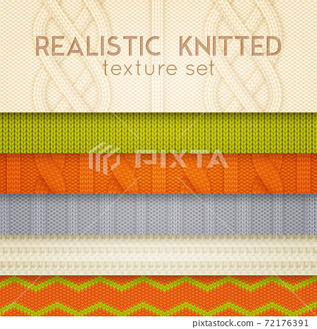 Realistic Knitted Patterns Horizontal Layers 72176391