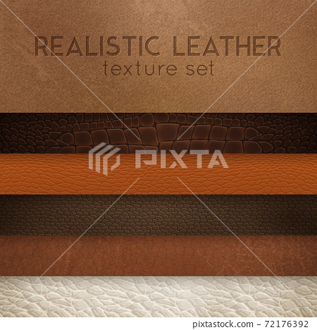 Leather Texture Realistic Samples Set 72176392