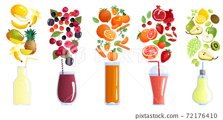 Smoothie Colored Composition 72176410
