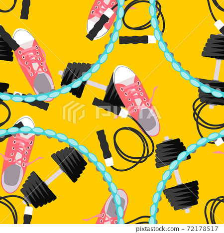 Abstract Fitness Sport Background. Seamless pattern. Vector Illustration EPS10 72178517