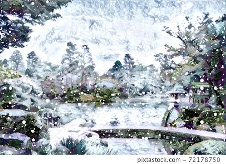 Snow in Kenrokuen 72178750