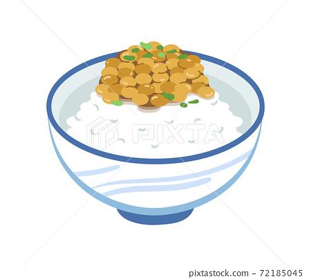 納豆飯的插圖 72185045