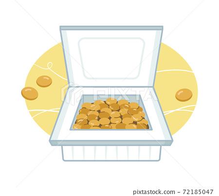 納豆在包中的插圖 72185047