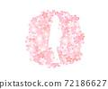 入口有櫻花圖案•畢業照剪裁 72186627