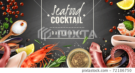Seafood Cocktail Background Poster 72186750
