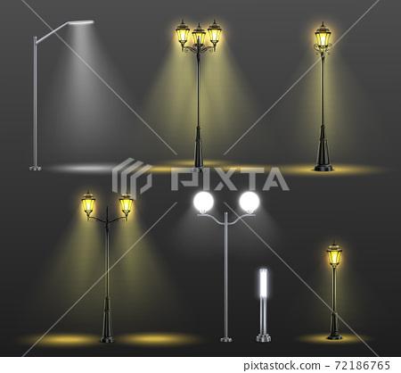 Street Lights Realistic Composition Set 72186765