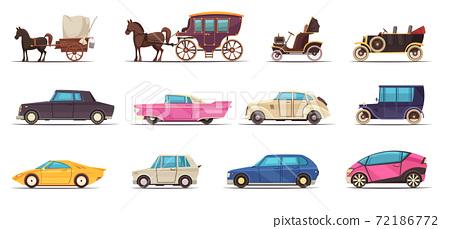 Old Modern Ground Transportation Set 72186772
