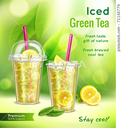 Ice Tea Realistic Advertisement 72186779