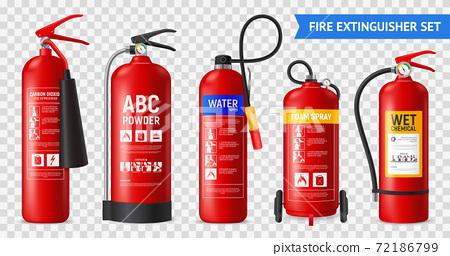 Realistic Fire Extinguishers Set 72186799