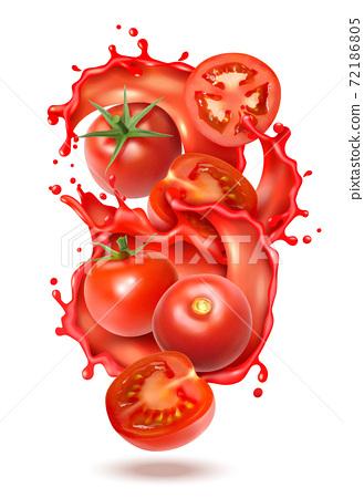 Tomato Juice Splash Composition 72186805