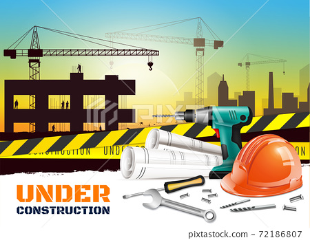 Realistic Construction Background 72186807