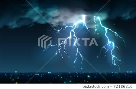Night City Storm Composition 72186816