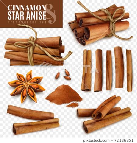 Cinnamon Star Anise Transparent Set 72186851