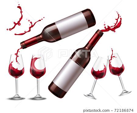 Red Wine Splash Collection 72186874