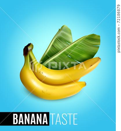 Banana Realistic Poster 72186879