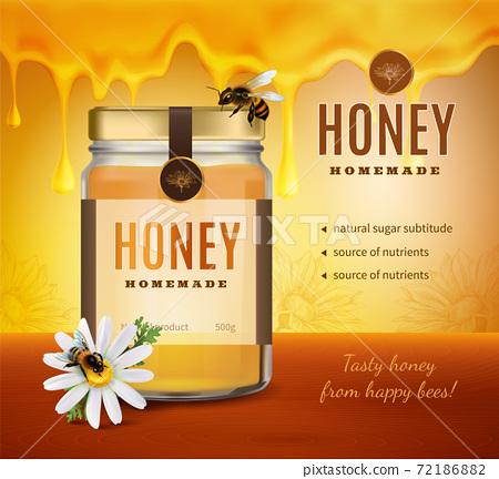 Homemade Honey Advertising Background 72186882