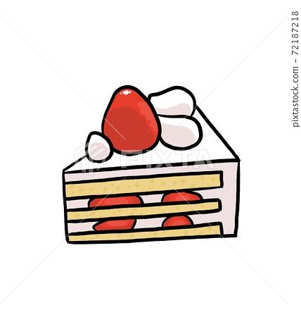 Short cake illustration 72187218
