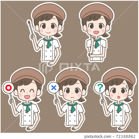 Pastry chef cafe pointer set 72188862