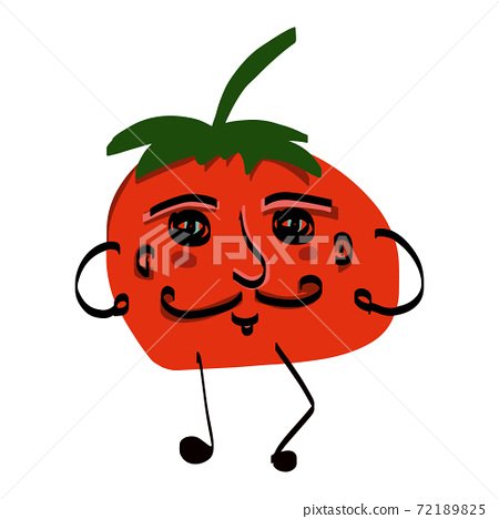 Cartoon character tomato in doodle style 72189825