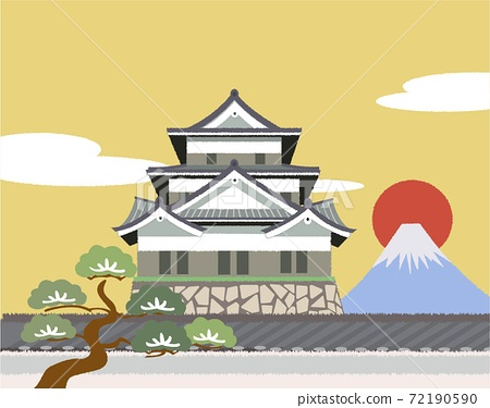 Japanese castle new year 72190590