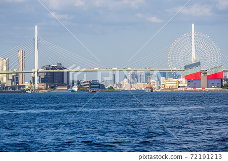 從Cosmo Square到Tenpoyama Ohashi / Kaiyukan的城市景觀 72191213