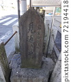 Yoshiwara's return willow stone monument 01 The return willow stone monument near the entrance of Yoshiwara, which was a Yukaku 72194418