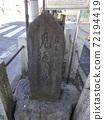 Yoshiwara's return willow stone monument 02 The return willow stone monument near the entrance of Yoshiwara, which was a Yukaku 72194419