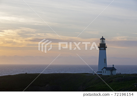 Coastal landscape and lighthouse 72196154