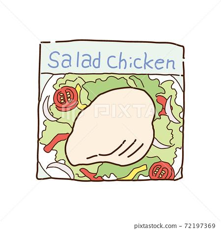 Illustration of salad chicken 72197369