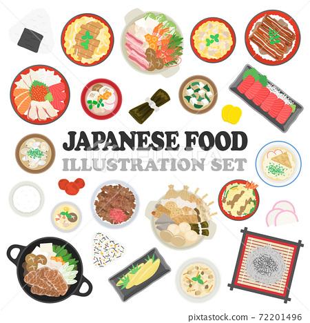 日本食品的插圖集 72201496