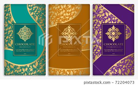 Luxury packaging design of chocolate bars. 72204073