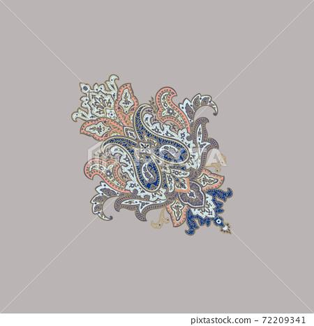 色彩豐富的花卉素材組合和設計元素 72209341
