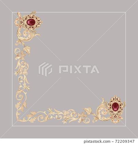 色彩豐富的花卉素材組合和設計元素 72209347