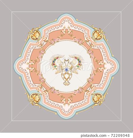 色彩豐富的花卉素材組合和設計元素 72209348