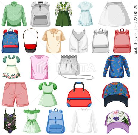 Set of fashion outfits 72210029