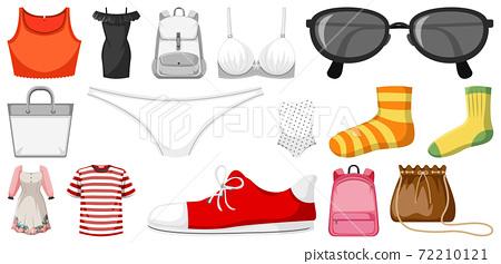 Set of clothes mock up 72210121