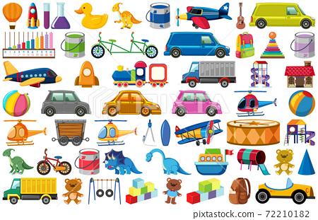 Set of various objects cartoon 72210182