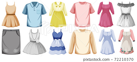 Set of clothes mock up 72210370