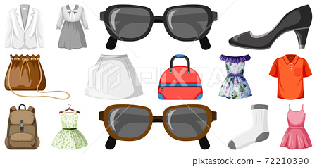 Set of clothes mock up 72210390