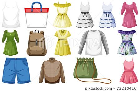 Set of fashion outfits 72210416