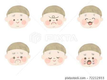 手繪寶寶的面部表情 72212933