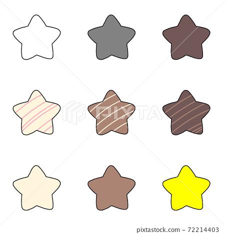 各種星星-帶邊緣 72214403