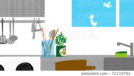 A neat and tidy kitchen illustration 72219792