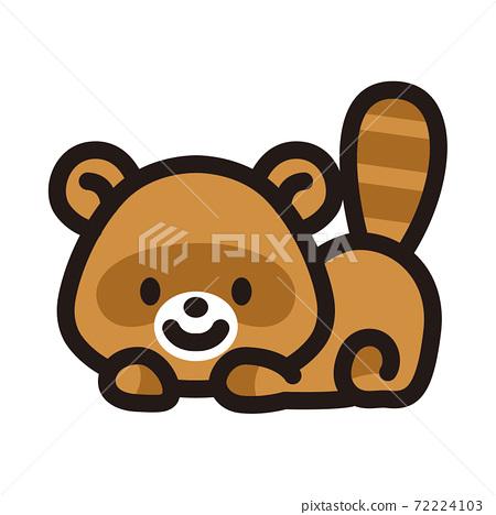 可愛的狸貓角色 72224103