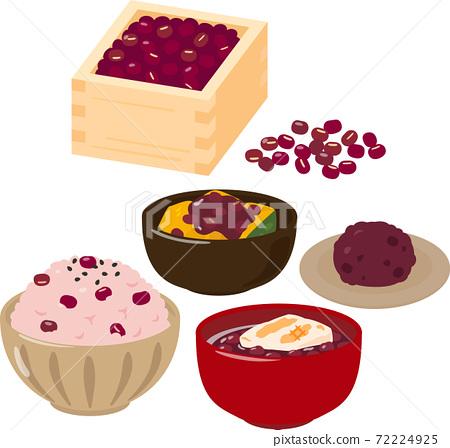 在一個盒子裡用一個小豆子和一個小豆子的菜 72224925