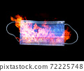 Antiviral medical mask in fire for protection against corona or any virus. 72225748